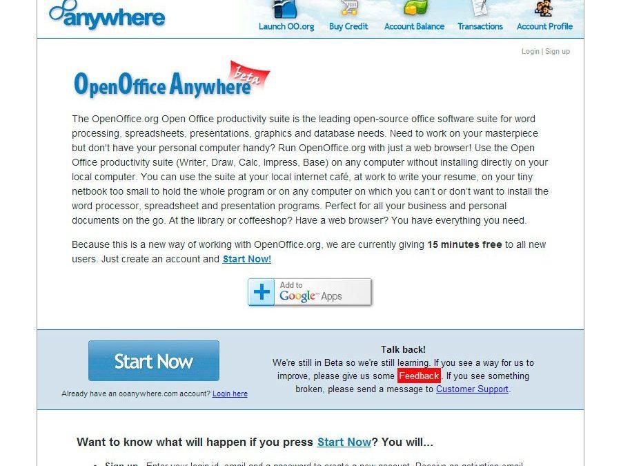 OpenOffice Anywhere